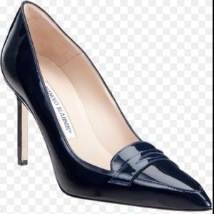 Manolo Blahnik Patent Leather Pointed Toe Heel